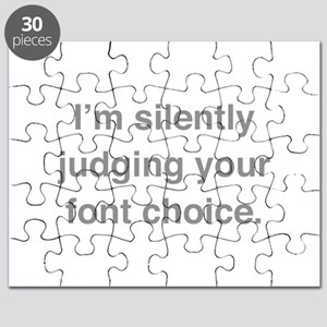 I'm Silently Judging Your Font Choice Puzzle