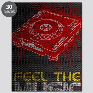 Feel The Music Pioneer CDJ Poster Puzzle