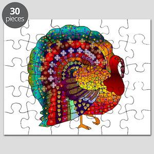 Thanksgiving Jeweled Turkey Puzzle