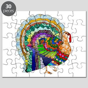 Patchwork Thanksgiving Turkey Puzzle