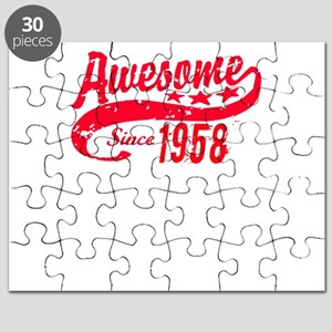 Awesome Since 1958 60 Years Old Birthday Puzzle