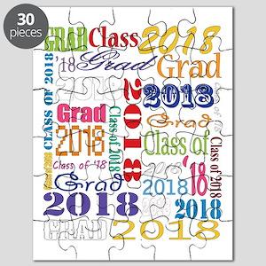 2018 Graduation Typography Puzzle