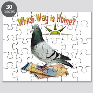 Which Way Is Home? Fun Lost Pigeon Art Puzzle
