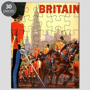 Vintage Travel Poster Britain Puzzle