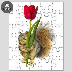 Squirrel Red Tulip Puzzle