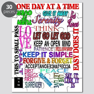 12 STEP SLOGANS IN COLOR Puzzle