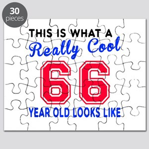 Really Cool 66 Birthday Designs Puzzle