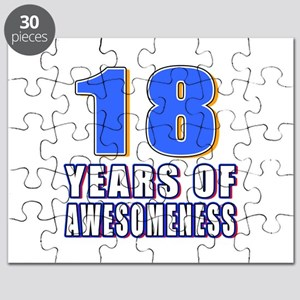 18 Years Of Awesomeness Puzzle