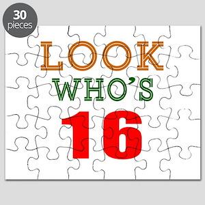 Look Who's 16 Birthday Puzzle