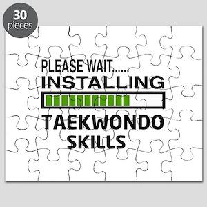 Please wait, Installing Taekwondo skills Puzzle