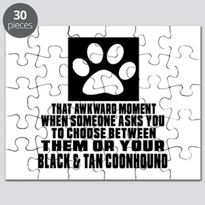 Black & Tan Coonhound Awkward Dog Designs Puzzle