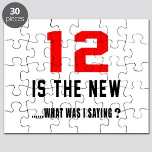 12 Is The New What Was I Saying ? Puzzle