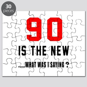 90 Is The New What Was I Saying ? Puzzle