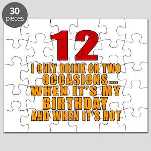 12 birthday Designs Puzzle