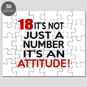 18 It Is Not Just a Number Birthday Designs Puzzle
