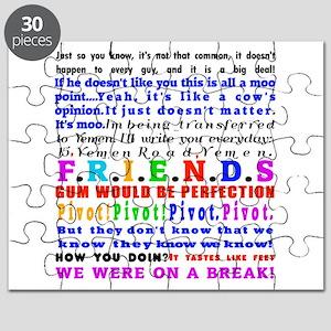 Friends Quotations Puzzle