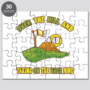 Golfing Humor For 40th Birthday Puzzle