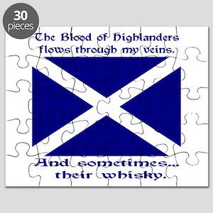Scottish Blood Whisky St Andrew Puzzle