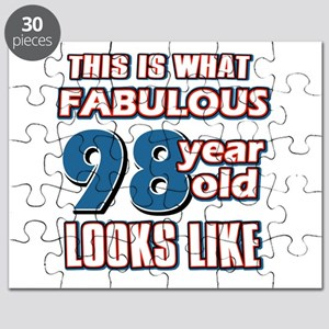 Cool 98 year old birthday designs Puzzle