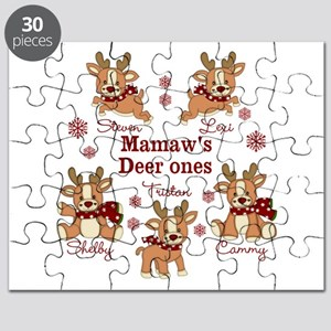 Custom deer grand kids Puzzle