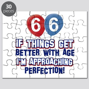 66 year Old Birthday Designs Puzzle