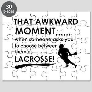 Lacrosse sports designs Puzzle