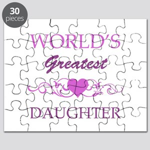 World's Greatest Daughter (purple) Puzzle