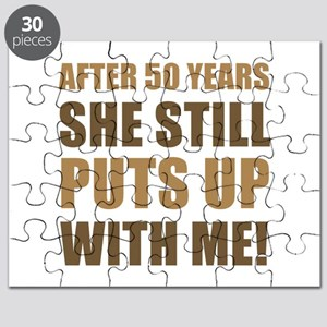 50th Anniversary Humor For Men Puzzle