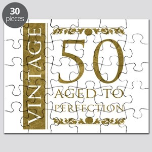 Fancy Vintage 50th Birthday Puzzle