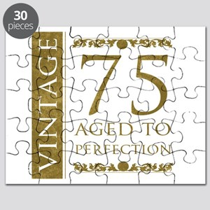 Fancy Vintage 75th Birthday Puzzle