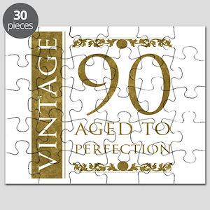 Fancy Vintage 90th Birthday Puzzle
