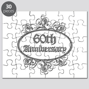 60th Wedding Aniversary (Engraved) Puzzle