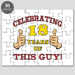 Funny 18th Birthday For Boys Puzzle