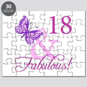 Fabulous 18th Birthday For Girls Puzzle
