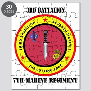 SSI - 7TH MARINE RGT-3RD BN WITH TEXT Puzzle