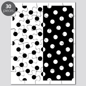 White and Black Polka Dots Puzzle