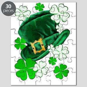 Irish Hat and ShamrocksTrans Puzzle