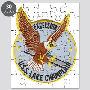 uss lake champlain patch transparent Puzzle