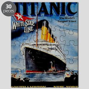 Vintage Titanic Travel Puzzle