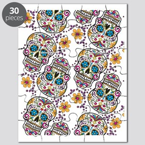 Day of The Dead Sugar Skull, Halloween Puzzle