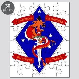 SSI-4TH MARINE RGT-1ST BN  WITH TEXT Puzzle