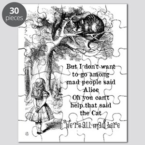 Alice in Wonderland Cat Puzzle