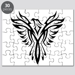 Tribal Phoenix Tattoo Bird Puzzle