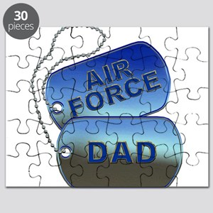 Air Force Dad - Father Dog Tag Puzzle