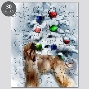 Afghan Hound Christmas Puzzle