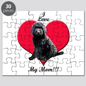 I Love My Mom!!! Black Goldendoodle Puzzle