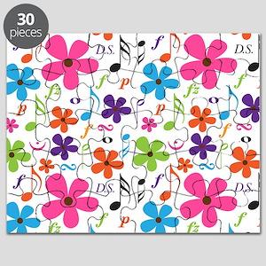 Music Flowered Design Puzzle