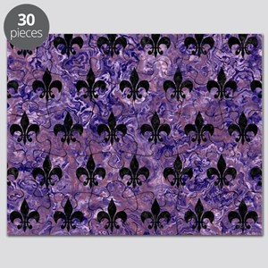 ROYAL1 BLACK MARBLE & PURPLE MARBLE Puzzle