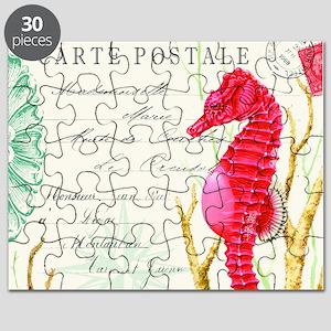 Modern vintage seahorse Puzzle