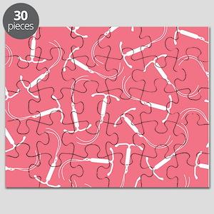 Pink IUD Pattern Puzzle